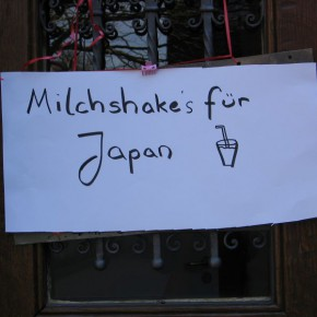 Wir bereiteten Milchshakes zu - Spende geht an Japan